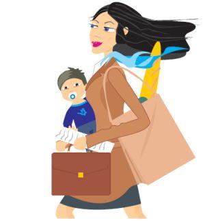 'Moeders blijven werken ondanks bezuiniging'