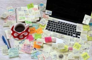 druk stress laptop agenda