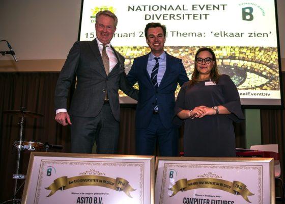 Award Diversiteit in Bedrijf voor Asito en Computer Futures